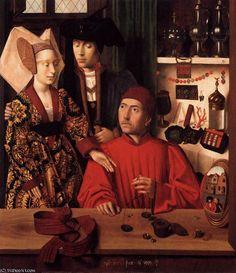 'St Eligius in His Workshop' by Petrus Christus (1410-1475, Belgium)
