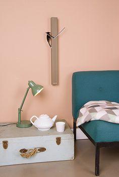 Desk lamp Office jungle green H. 45cm, D. shade 13cm, Excl. E14, Max. 25W. #leitmotiv #presenttime