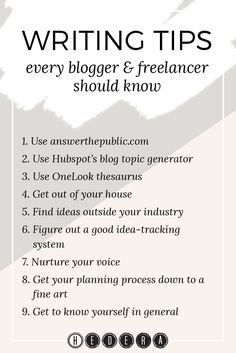 Useful writing tips every blogger & freelancer should know — Hedera House
