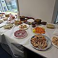 Buffet de fête 30 personnes au bureau, les quantités - les courses