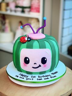 2nd Birthday Party For Girl, 1st Birthday Party Decorations, Second Birthday Ideas, Watermelon Birthday Parties, Fondant Toppers, Birthdays, Party Ideas, Baking, Ideas Party
