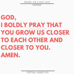 A great tool for any marriage is prayer. We all need Jesus and so do our marriages. Here are 30 prayers for a strong marriage, right in the post, to help you with your marriage at any stage. Prayer For My Marriage, Strong Marriage, Marriage Life, Happy Marriage, Marriage Advice, Love And Marriage, Relationship Advice, Marriage Scripture, Marriage Retreats