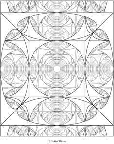 Dover Sampler - Creative Haven Geometric Designs Collection Coloring Book Dover Coloring Pages, Blank Coloring Pages, Coloring Pages For Kids, Coloring Sheets, Geometric Coloring Pages, Mandala Coloring Pages, Mandala Pattern, Abstract Pattern, Geometric Mandala