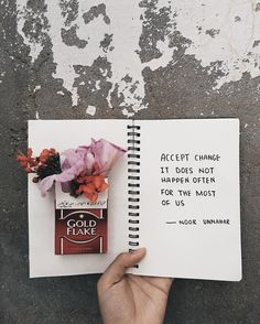 'accept change it doesn't happen often for the most of us' — change // poetry by noor unnahar // art journal ideas inspiration journaling aesthetics, tumblr hipsters indie grunge artsy aesthetically pleasing notebook stationery, words quotes inspiring writing writers of color pakistani poet artist, instagram bookstagram photography creative self love empowerment //