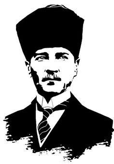 'Gazi Mustafa Kemal Atatürk' Poster by tuwegl - Hobbies paining body for kids and adult Stencils, Cute Tattoos For Women, Dress Shirts For Women, Long Hoodie, Blogging, 1, Superhero, Art Prints, Illustration