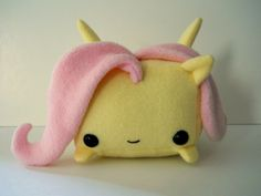 Rectangle Animals Fluttershy pony plush. I WANT THIS SO BAD I SERIOUSLY DONT CARE ABOUT THE PRICE