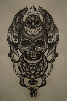 skull eye bird by FraH.deviantart.com on @deviantART