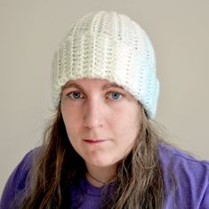 I love making this pattern. It is so easy and makes an extremely warm, winter hat. Also, the pattern can be easily altered to make a different sized hat or to spice things up and add stripes. Crochet Crafts, Free Crochet, Knit Crochet, Knitting Patterns, Crochet Patterns, Hat Patterns, Pattern Ideas, Free Pattern, Crochet Toddler Hat