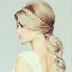 Crown Braid Bridal Hair