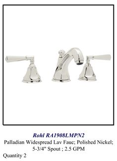 Your master bath faucets.