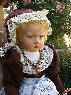 RARE 1925 Series 300 Lenci Cloth Felt Vintage Antique Genuine Early Doll    $1060