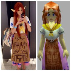Malon / Cremia / Romani Cosplay ~ The Legend of Zelda ~ COMPLETE outfit costume incl. wig ~ Hyrule Hylian Lon Lon Ranch