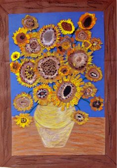 Art with Mr. Giannetto: 1st Grade: Sunflowers in Progress - Great elementary art lessons!