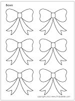 Small Bows Set 1 Bow Tie Template Flower Shape Templates Printable