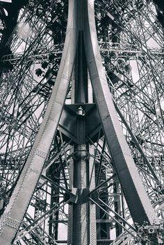 Under the Eiffel Tower, mémoire du paris. #Paris #France #Street Photography #Architecture #Abstract #BlackandWhite