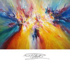 Abstraktes Acrylbild 150 cm x 105 cm. von abstractpaintingshop