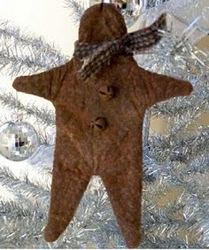 Free Primitive Gingerbread Ornie pattern