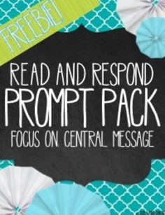 This Read and Respond Prompt will help your students develop reading comprehension, literary response & analysis and writing skills. Each day, your students will answer one Read and Respond question related to their choice reading book (or an assigned book if you prefer).