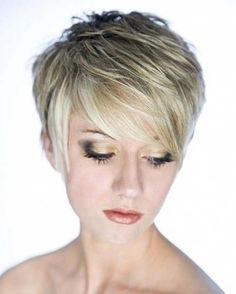Cute Layered Pixie with Long Bangs