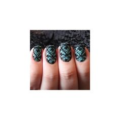 Lace Nail Art Designs found on Polyvore