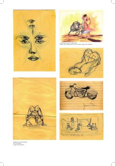 several drawings made by James Dean