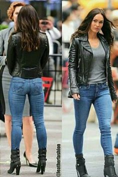 38 Inspiring Leather Jacket Outfit Ideas To Try This Winter - Jackets and coats are the most used garments in the cold season. Mode Outfits, Jean Outfits, Casual Outfits, Girl Outfits, Fashion Outfits, Black Jacket Outfit, Leather Jacket Outfits, Leather Jackets, Mode Rock