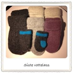 Tovede votter Chrochet, Knit Crochet, Mittens, Diy And Crafts, Slippers, Knitting, Sewing, Hats, Crocheting