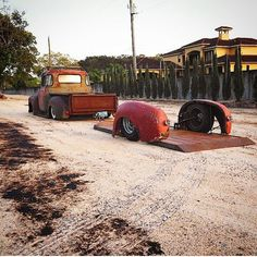Rat Rod Truck and Trailer