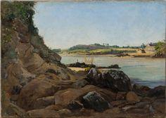 """""""La passe de l'île Tristan en regardant Tréboul"""", 1873, Emmanuel Lansyer, 1835-1893"""