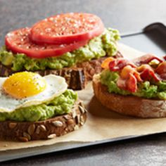 ═►In-A-Word: DELISH!◄═ Avocado Toast with toppingsAvocado Toast with toppings