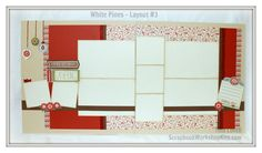 Scrapbook your holiday pictures right away this year with the Pre-cut White Pines 6 Page Scrapbooking Kit - $22 www.scrapbookworkshopkits.com #ctmhwhitepines #ctmh #scrapbooking