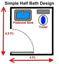 3ft x 4ft half bath or guest bath layout Bathroom Dimensions
