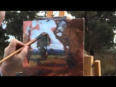 "▶ ""Barrow Road"", plein air oil painting by Andy Dolphin - YouTube"