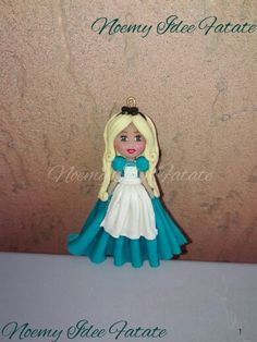 Alice in wonderland polymer clay doll