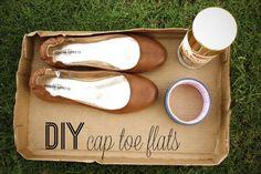 Meg: Cap toe flats