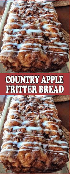 Country Apple Fritter Bread is part of Dessert recipes   2 C  milk or almond milk room temp Chopped Apple Mixture 2 Apples any kind, peeled and chopped  HOW TO MAKE Chopped Apple Mixture 1 2 apples an -  #Dessertrecipes