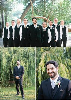 groomsman looks http://www.weddingchicks.com/2013/09/23/rustic-pink-wedding-2/