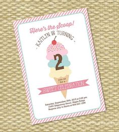 Hey, I found this really awesome Etsy listing at https://www.etsy.com/listing/244754504/ice-cream-party-invitation-birthday