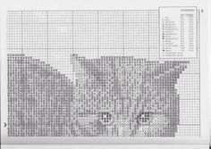 """Photo from album """"poes cats"""" on Yandex. Cross Stitch Embroidery, Cross Stitch Patterns, Knitted Cat, Just Cross Stitch, Sewing Art, Cat Crafts, Fiber Art, Crochet, Knitting"""
