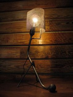 scrap metal desk lamp