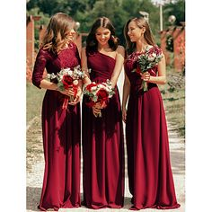 Silhouette:A-Line; Hemline / Train:Floor Length; Closure:Zipper UP; Embellishment:Lace Insert; Fabric:Polyester,Lace; Sleeve Length:3/4 Length Sleeve; Back Details:V Back; Boning:No; Style:Elegant,See Through; Occasion:Prom; Neckline:Jewel Neck; Sleeve Type:Illusion Sleeve; Front page:Prom Dresses; Listing Date:08/21/2019; Bust:; Hips:; Waist:; Dress Length: Formal Dresses With Sleeves, Formal Dresses For Women, Formal Evening Dresses, Evening Gowns, Evening Party, Red Bridesmaids, Maxi Bridesmaid Dresses, Wedding Dresses, Maxi Dresses