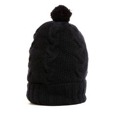 The Bootstrap Project Cashmere Pom Beanie- Black