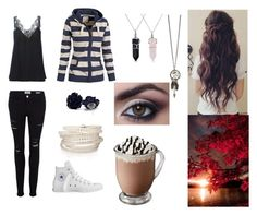 """""""Dark Fall"""" by nawshin55555 ❤ liked on Polyvore featuring Chloé, Frame Denim, Converse, Bling Jewelry, Sif Jakobs Jewellery, women's clothing, women's fashion, women, female and woman"""