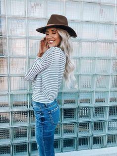 96ab1692eecf3 Black And White Stripe Long Sleeve – OLIVIA HUDSON CLOTHING BOUTIQUE