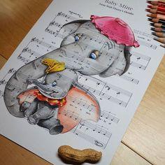Baby mine  Dumbo #babymine #dumbo #waltdisneydumbo #motherandbaby #sheetmusic…