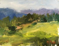 Impressionist Landscape Painting, Berkshire Painting, Art in New England original painting meadows and summer fields, Potak by RussPotakArtist on Etsy