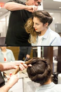 Long Hair Womens Styles : After the first twist is done take all of the leftover hair from the other side