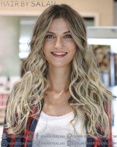 All Eyes On Hair - California Blonde Balayage from Hair By Salah.  www.hairbysalah.com #hair #blonde #lightblonde #blondehair #ashblonde #balayage #blondeoftheday #blond #highlights #hairstyle #hairstyles #hairoftheday #hairbysalah #nicehair #beauty #dubai #abudhabi #saudi #makeup #fashion #hairfashion #wavyhair