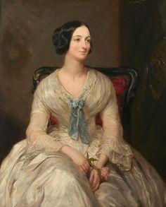 Margaret-Sarah Carpenter  - A portrait of Mrs Simpson as a young woman, 1850