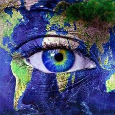 Planet Earth with a Blue Human Eye Print on Canvas East Urban Home Gaia, Lightroom, Photoshop, Pokemon Go, Painting Prints, Canvas Prints, Describe Your Personality, Personality Quizzes, Sutra